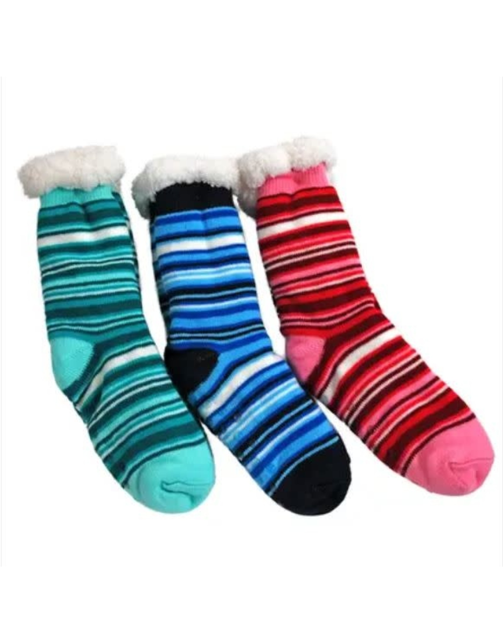 PARADE STREET PRODUCTS STRIPED FLUFFY SOCKS