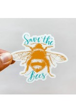 WILDFLOWER PAPER COMPANY SAVE THE BEES STICKER