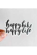 WILDFLOWER PAPER COMPANY HAPPY HIKE HAPPY LIFE STICKER