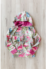 YOUTH AA DOUBLEHOOD SWEATSHIRT - FLORAL FRENZY