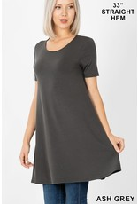 LONGLINE FLARED HEM TUNIC WITH SIDE POCKETS