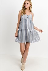 PAPER CRANE DENIM MULTI BUTTON DOWN FRONT CANCAN DRESS