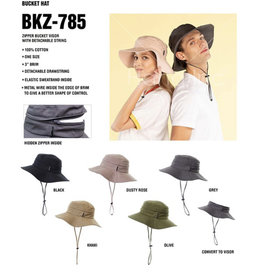 CC CONVERTIBLE BUCKET HAT WITH STRING
