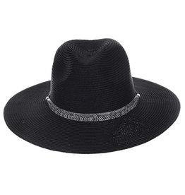 CC BLACK PAPER HAT W/ SNAKE TRIM