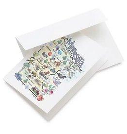 FISH KISS MINNESOTA MAP GREETING CARD
