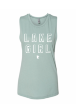 MINNESOTA MINT LAKE GIRL MUSCLE TEE