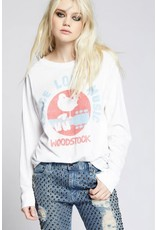 RECYCLED KARMA WHITE WOODSTOCK PEACE LOVE MUSIC LONG SLEEVE