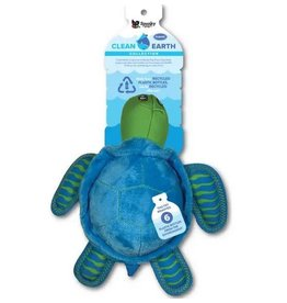 SPUNKY PUP DOG TOYS CLEAN EARTH PET TOY - PLUSH TURTLE SMALL