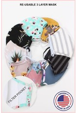 CLOTH 3 LAYER FACE MASKS