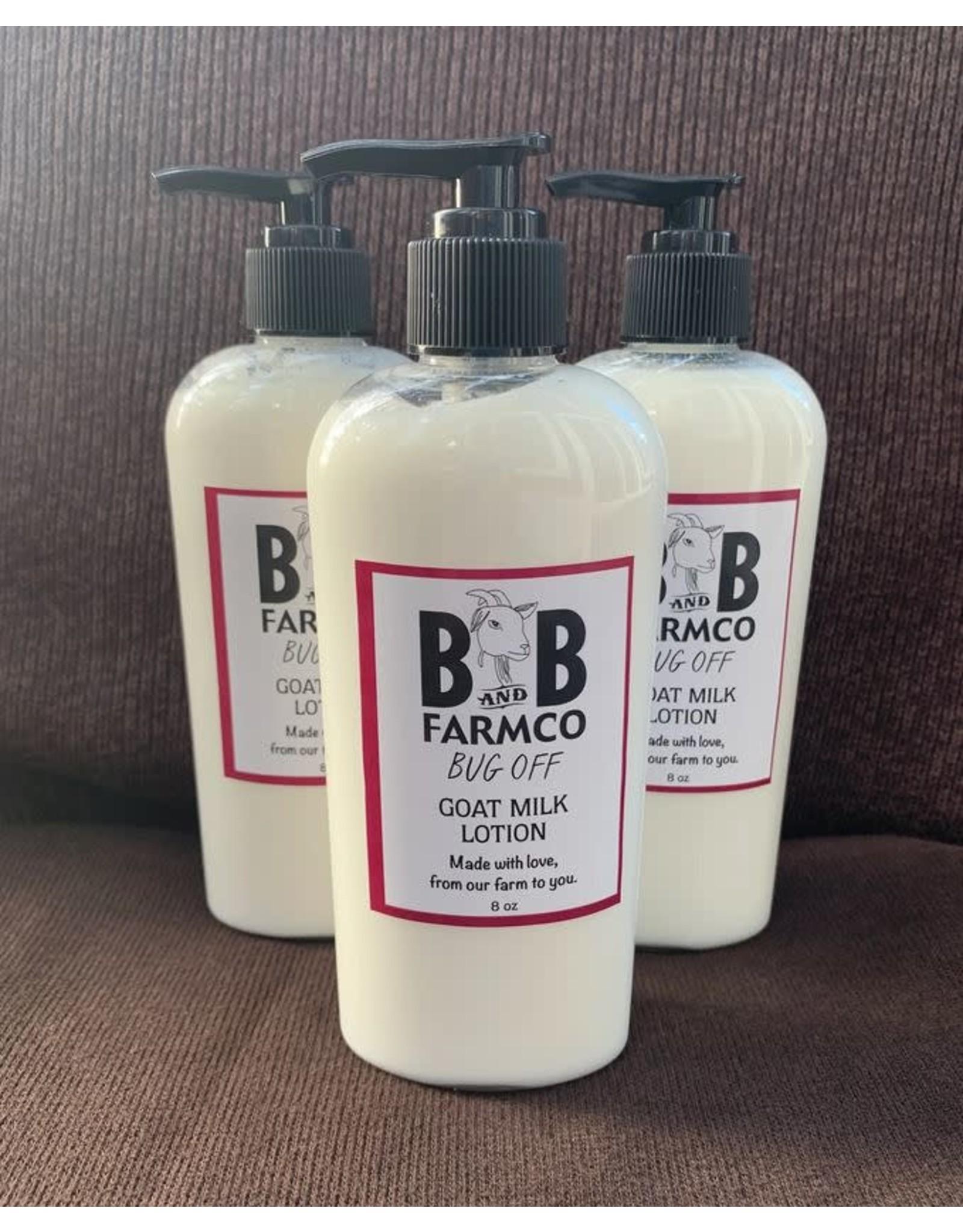 B&B FARM CO B&B BUG OFF GOAT MILK LOTION