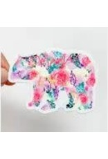 WILDFLOWER PAPER COMPANY MAMA BEAR BRIGHT FLORAL STICKER