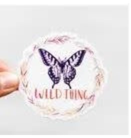 WILDFLOWER PAPER COMPANY WILD THING BUTTERFLY STICKER