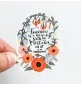 WILDFLOWER PAPER COMPANY NEW DAY FLORAL STICKER