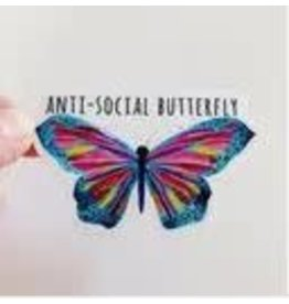 WILDFLOWER PAPER COMPANY ANTI SOCIAL BUTTERFLY STICKER