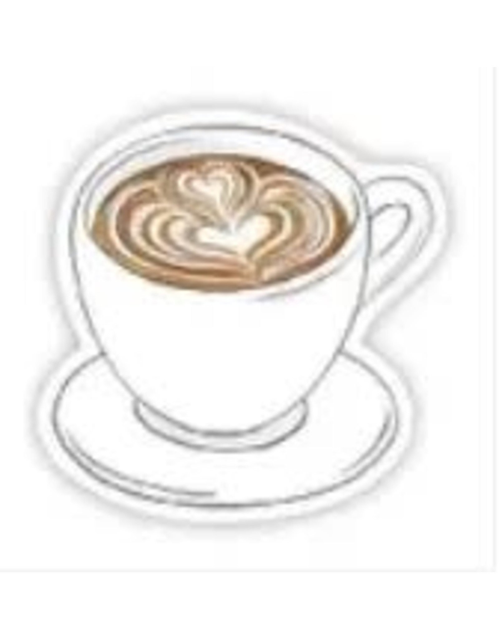 BIG MOODS CAFE LATTE HEART STICKER