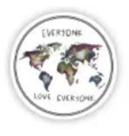 BIG MOODS EVERYONE LOVE EVERYONE STICKER