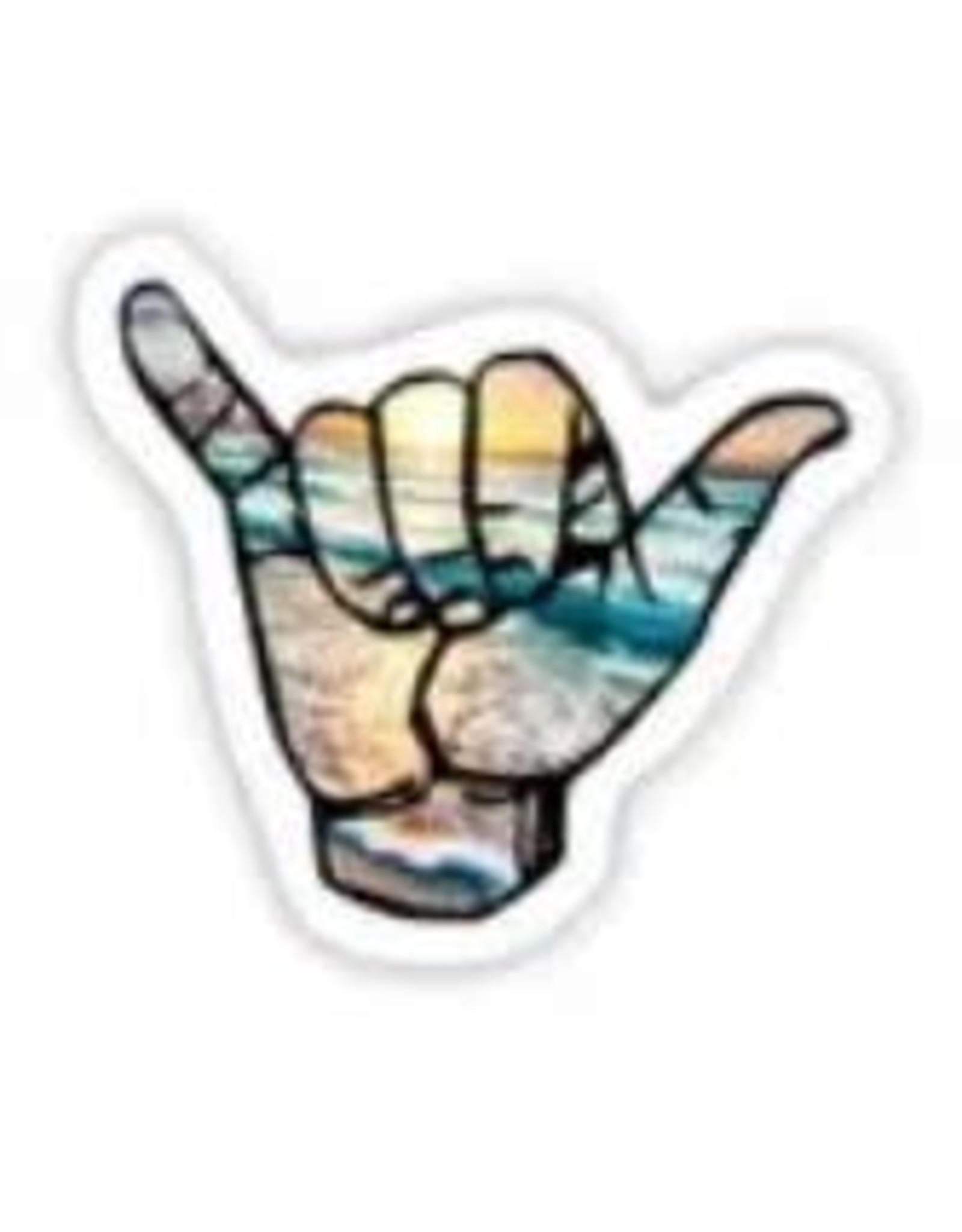 BIG MOODS HANG LOOSE HAND STICKER