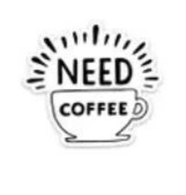 BIG MOODS NEED COFFEE CUP STICKER