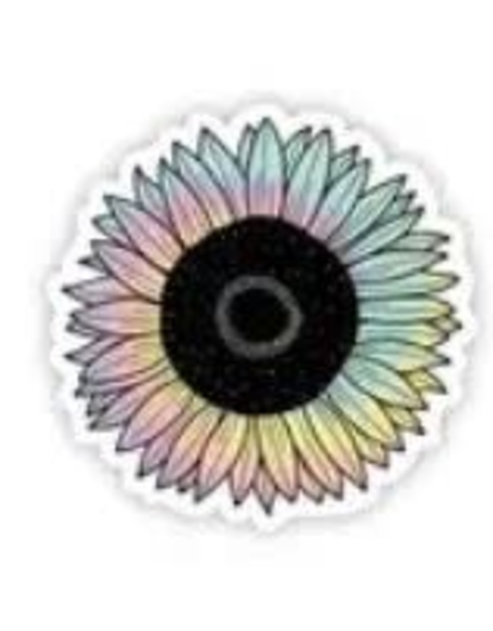BIG MOODS SUNFLOWER TIE DYE STICKER