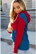 AA HALFZIP SWEATSHIRT - JEWEL TONES RED/BLUE