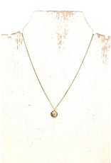GOLD SPECKLE PRECIOUS STONE CHARM NECKLACE N-144