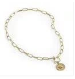 GOLD 2IN1 COIN TOGGLE NECKLACE/BRACELET