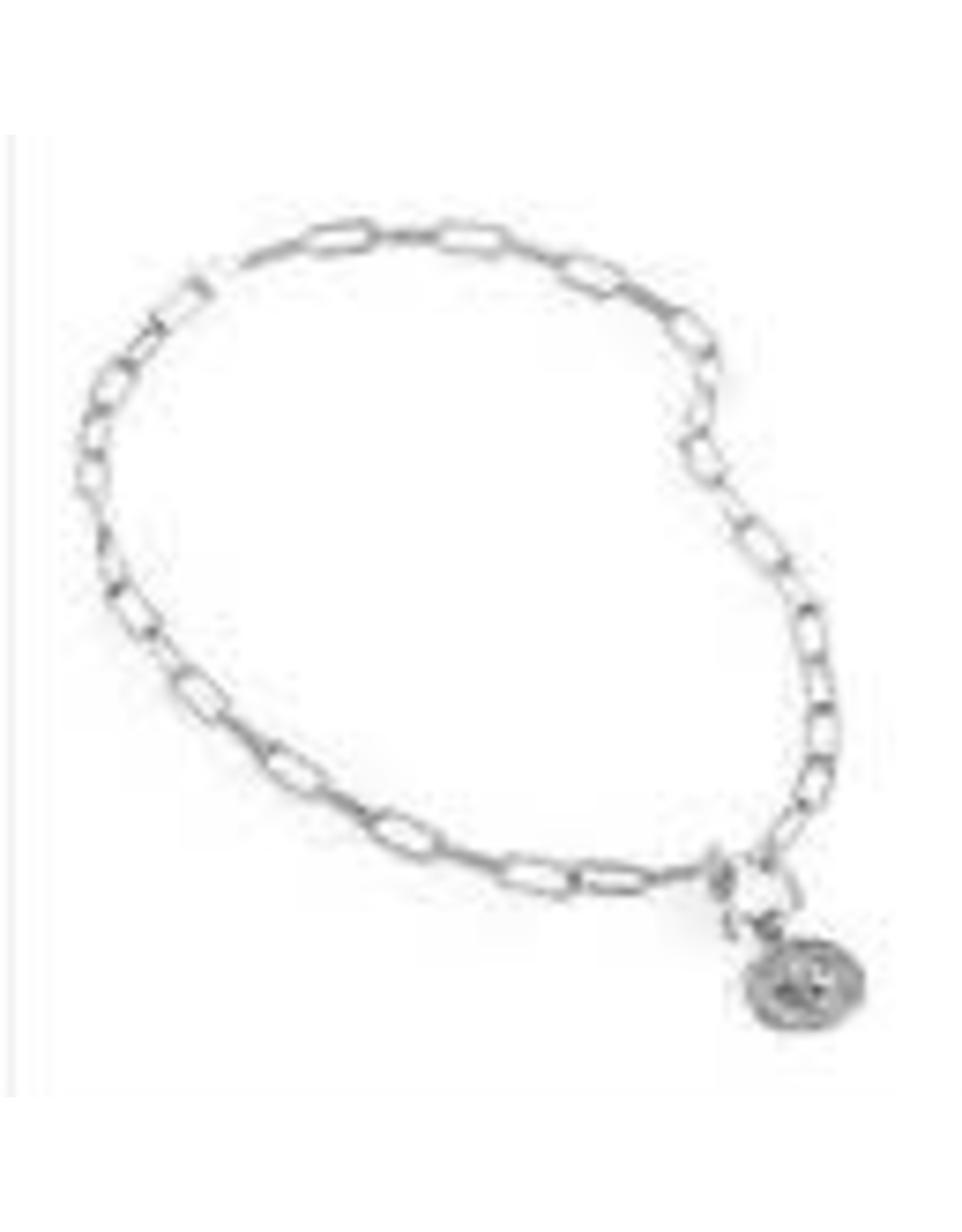 SILVER 2IN1 COIN TOGGLE NECKLACE/BRACELET