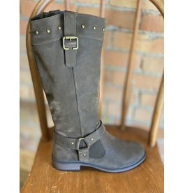 MIAMI SHOE WHOLESALE BARE BROWN RIDING BOOT W/ CALF EXTENSION