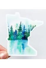 WILDFLOWER PAPER COMPANY MINNESOTA LAKE REFLECTION STATE STICKER