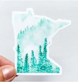 WILDFLOWER PAPER COMPANY MINNESOTA FOREST GREEN STATE STICKER