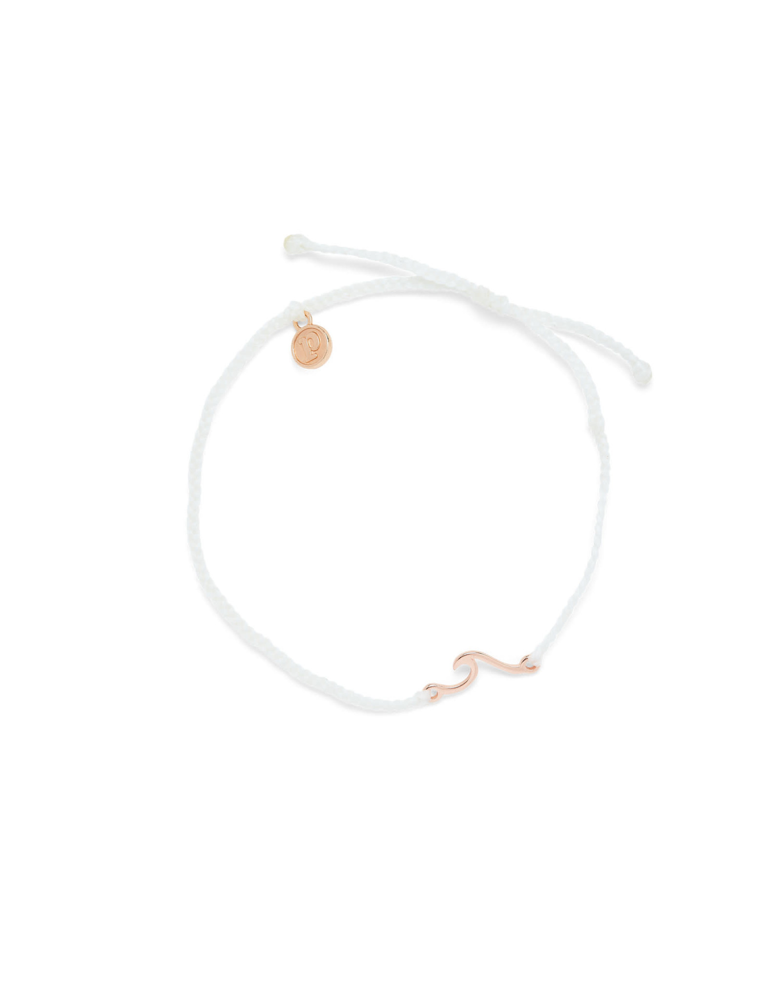 PURA VIDA ANKLET MINI WAVE ROSE GOLD WHITE