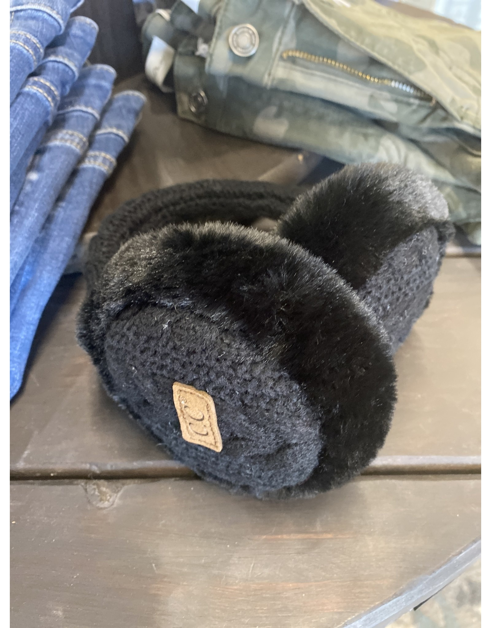 EAR MUFF - GREY CABLE KNIT EM3661