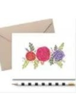 THE FARMING ARTIST FLORAL NOTE CARD / NOTE PAD SET