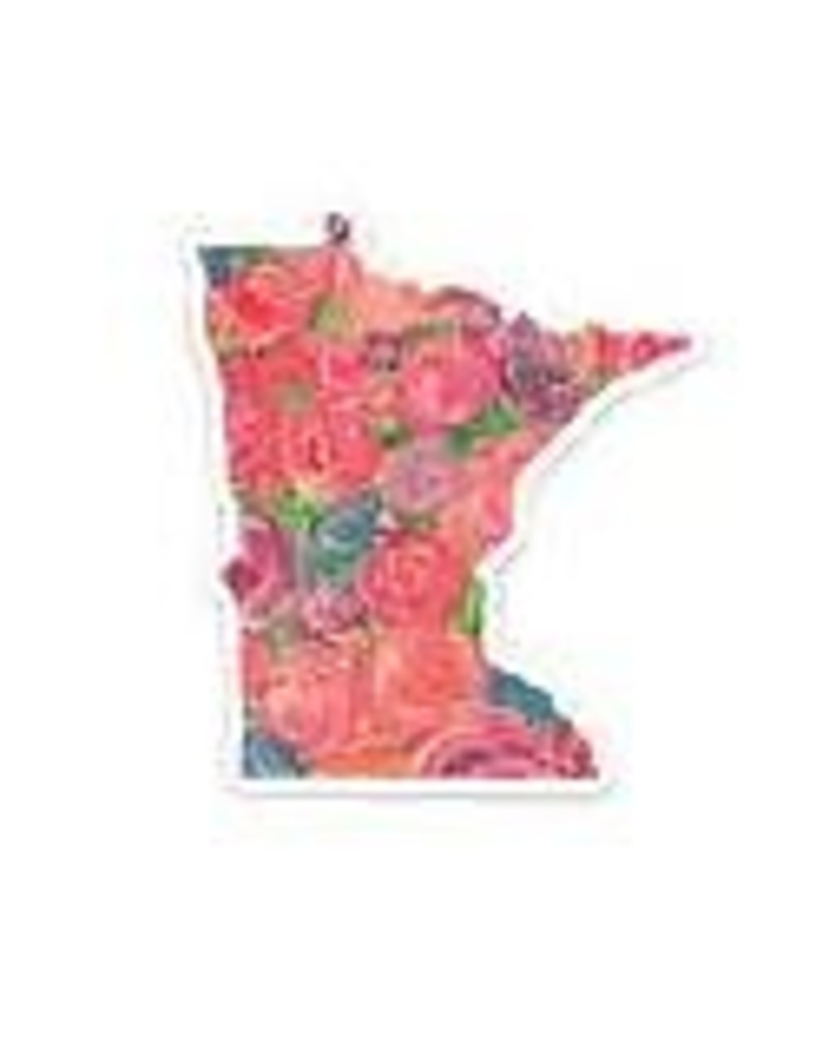THE FARMING ARTIST MINNESOTA FLORAL SWIRL PAINT STICKER