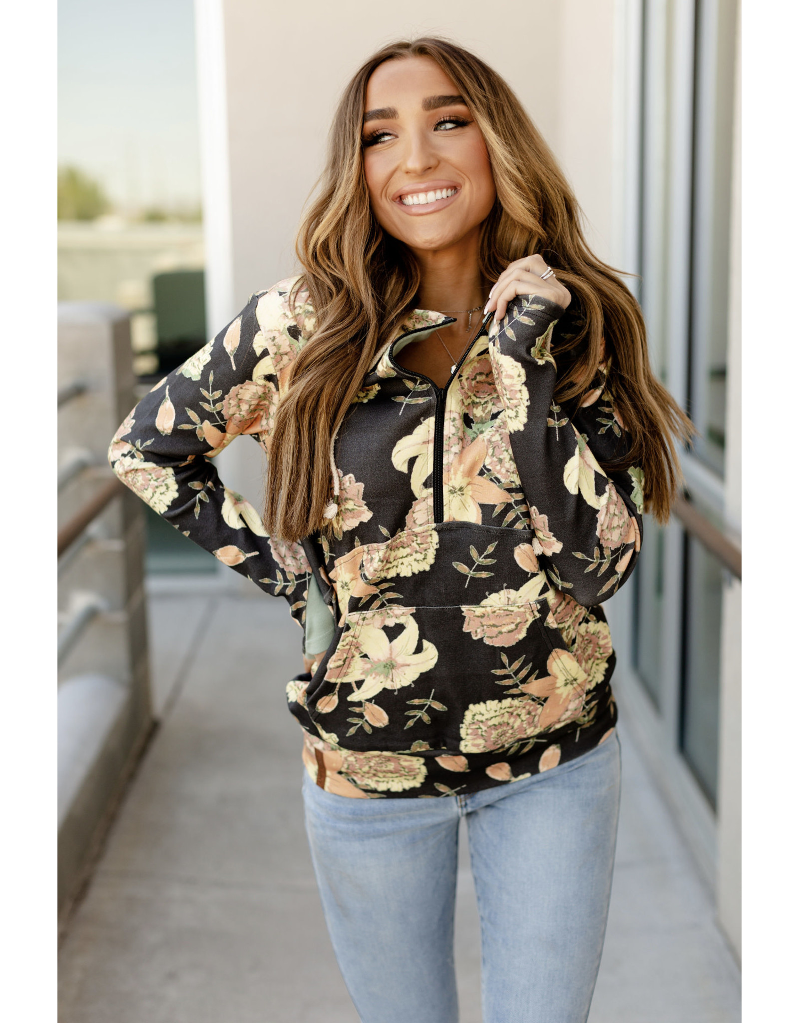 AA HALF ZIP SWEATSHIRT - LONG LASTING LOVE -