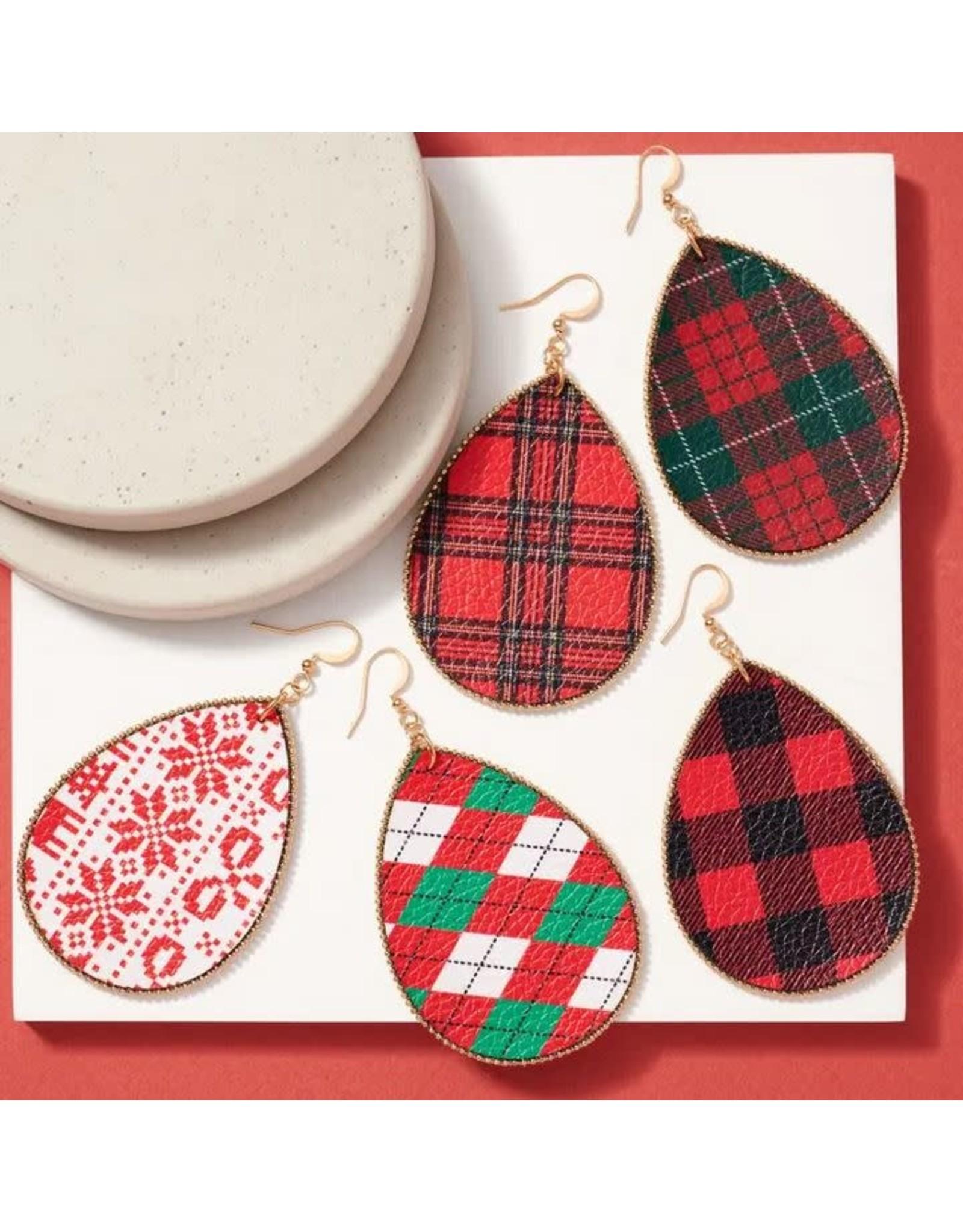 AVENUE ZOE CHRISTMAS TEAR DROP EARRING -