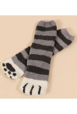 AVENUE ZOE CAT PAW PRINT SOCKS