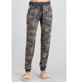 GEEGEE CAMO JOGGER PANTS W/ POCKETS DRAWSTRING TIE WAIST