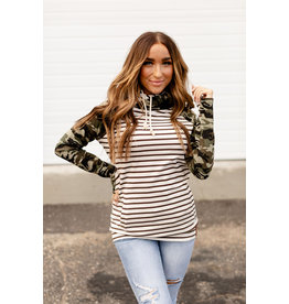 AA DOUBLE HOOD SWEATSHIRT - CRAZY ABOUT CAMO -