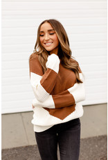 AA LUCY SWEATER - BROWN/ CREAM