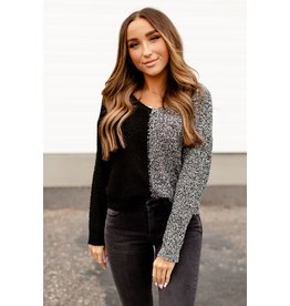 AA CLAIRE SWEATER - BLACK/GREY -