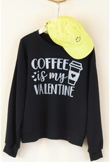 BLACK COFFEE VALENTINE CREW SWEATSHIRT