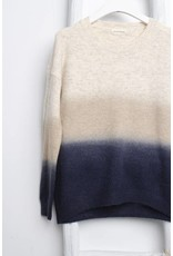 OATMEAL NAVY OMBRE SWEATER