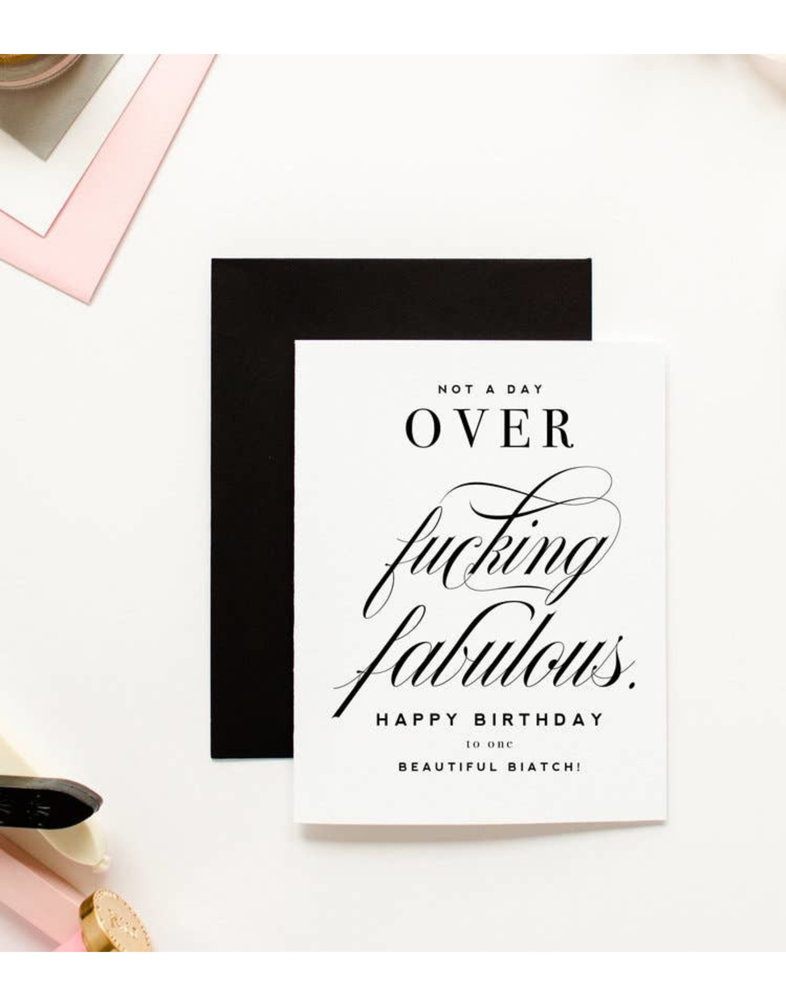 KITTY MEOW BOUTIQUE GREETING CARD -