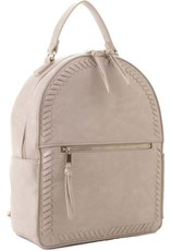 BACKPACK PURSE WITH STITCH ACCENT