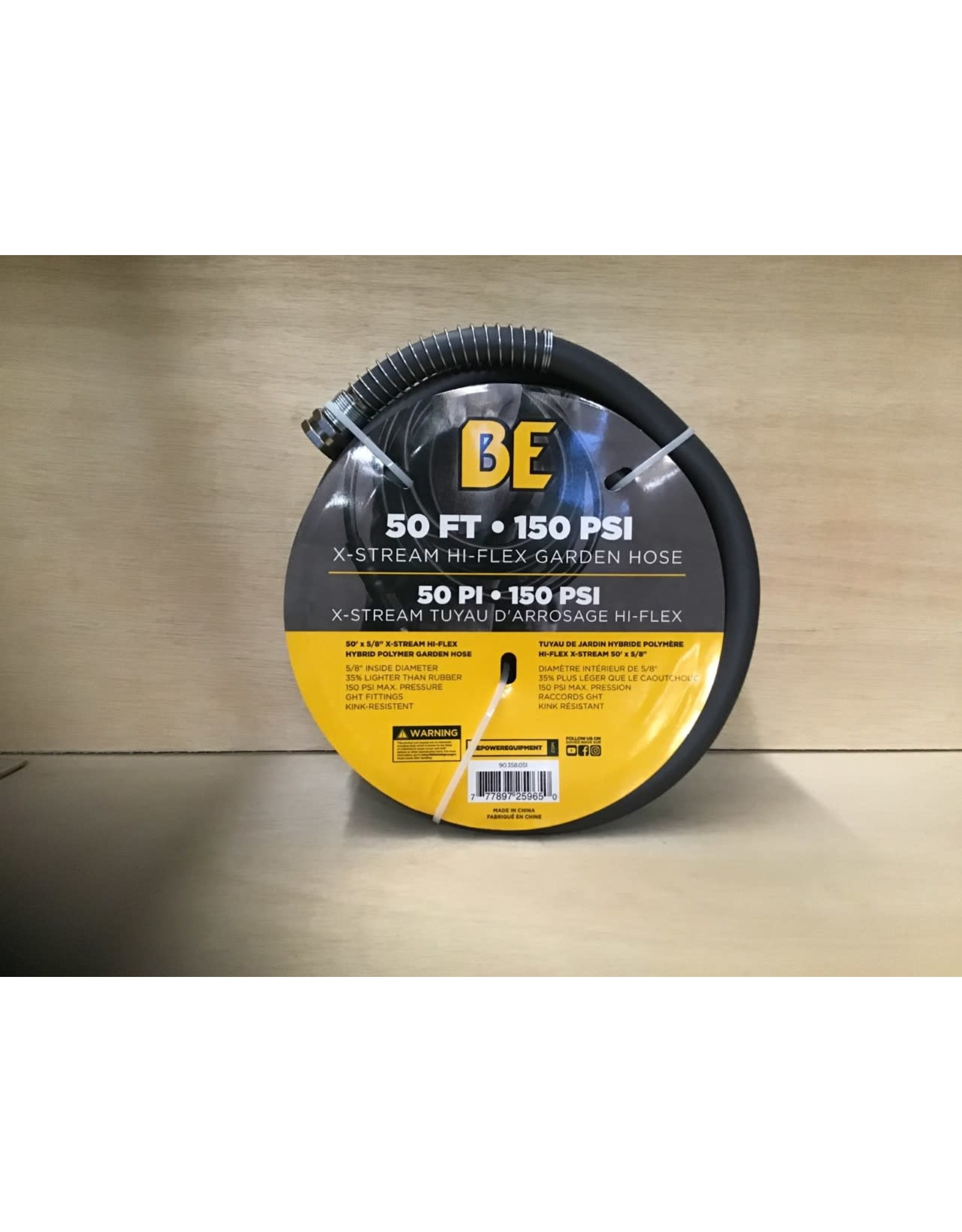 BE 90.358.051 50 ft 150 psi water hose
