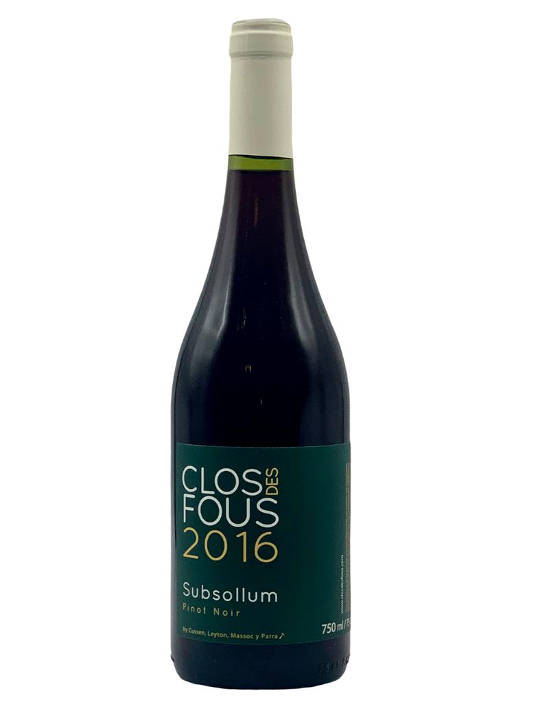 Clos des Fous Pinot Noir Subsollum 2016