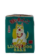 Genshu Sake Lucky Dog Sake Juice box size