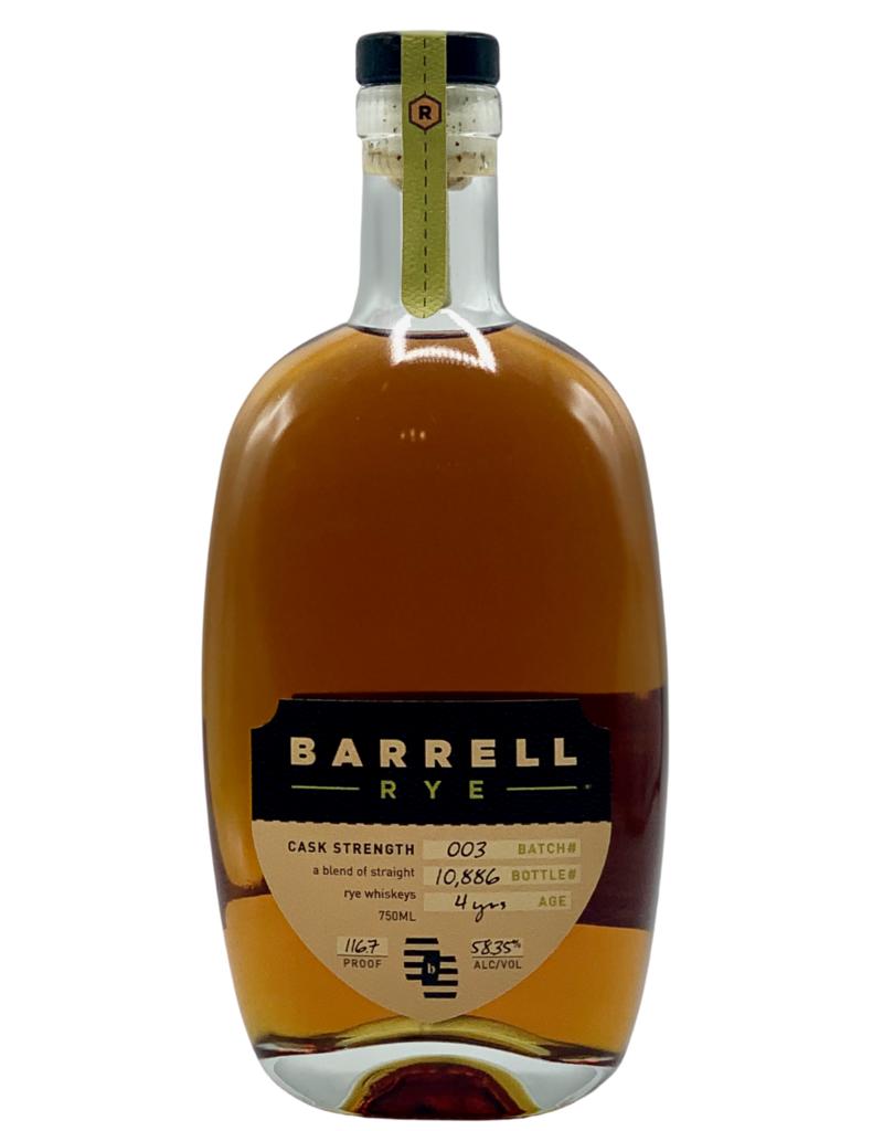 Barrell Craft Spirits Rye Whiskey Batch No. 3