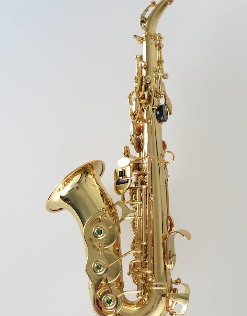 Temby Australia Bb Curved Soprano Saxophone Gold Lacquer